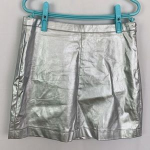 2/$15🎊Streetwear Society Spacey Silver Mini Skirt
